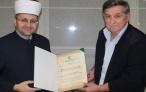 Muftija mostarski uručio priznanja dugogodišnjem predsjedniku Izvršnog odbora Medžlisa IZ-e Mostar Ramizu Jelovcu